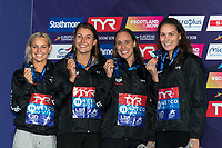 Team DENMARKSilver Medal<br /> NIELSENMie Oe.<br /> PEDERSENRikke Moeller<br /> BECKMANNEmilie<br /> BLUMEPernille<br /> 4x100m Medley Relay Women<br /> Glasgow 09/08/2018<br /> Swimming Tollcross International Swimming Centre<br /> LEN European Aquatics Championships 2018 <br /> European Championships 2018 <br /> Photo Giorgio Scala/ Deepbluemedia /Insidefoto