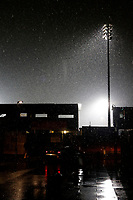 A general view lot the snow fall during the Sky Bet League 1 match between AFC Wimbledon and Fleetwood Town at the Cherry Red Records Stadium, Kingston, England on 22 January 2019. Photo by Carlton Myrie / PRiME Media Images.
