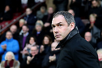 Swansea City manager Paul Clement prior to the Premier League match between Burnley and Swansea City at Turf Moor, Burnley, England, UK. Saturday 18 November 2017