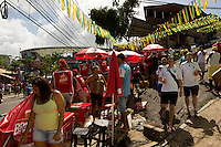Locals busily sell beer and water near the Arena Fonte Nova