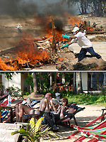 An army of civilan volounteers has moved into the Khao Lak area, Thailand, struck by the December 26, 2004, tsunami. The Thai hoped to quickly clear the rubble, restore the damaged areas and have tourists return...Five years on western tourist enjoy the clean Nang Niam beach.