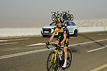 Sepp Kuss (USA) Team Jumbo-Visma on the final climb of Stage 3 of the 2021 UAE Tour running 166km from Al Ain to Jebel Hafeet, Abu Dhabi, UAE. 23rd February 2021.  <br /> Picture: Eoin Clarke | Cyclefile<br /> <br /> All photos usage must carry mandatory copyright credit (© Cyclefile | Eoin Clarke)