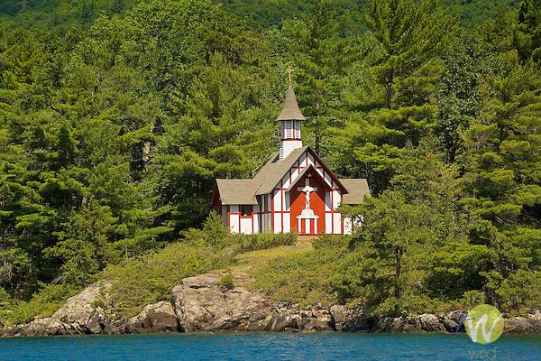 Lake George, Adirondack State Park, NY. Hecker Island, Paulist's. Isaac Jogues Chapel.
