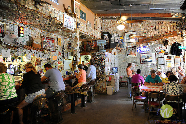 Tortilla Flat Restaurant. Tonto National Forest. AZ. Dollar bill covered wall.