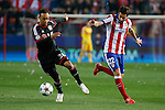Atletico de Madrid´s Cani (R) and Bayer 04 Leverkusen´s Bellarabi during the UEFA Champions League round of 16 second leg match between Atletico de Madrid and Bayer 04 Leverkusen at Vicente Calderon stadium in Madrid, Spain. March 17, 2015. (ALTERPHOTOS/Victor Blanco)