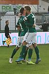 22.11.2020, Dietmar-Scholze-Stadion an der Lohmuehle, Luebeck, GER, 3. Liga, VfB Luebeck vs FC Bayern Muenchen II <br /> <br /> im Bild / picture shows <br /> Torjubel/Jubel. Torschütze/Torschuetze Yannick Deichmann (VfB Luebeck)  jubelt ueber das Tor zum 1:0<br /> <br /> DFB REGULATIONS PROHIBIT ANY USE OF PHOTOGRAPHS AS IMAGE SEQUENCES AND/OR QUASI-VIDEO.<br /> <br /> Foto © nordphoto / Tauchnitz
