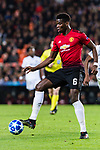 Paul Pogba of Manchester United controls the ball during the UEFA Champions League 2018-19 match between Valencia CF and Manchester United at Estadio de Mestalla on December 12 2018 in Valencia, Spain. Photo by Maria Jose Segovia Carmona / Power Sport Images