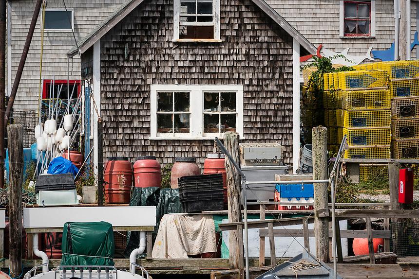 Quaint fishing village of Menemsha, Chilmark, Martha's Vineyard, Massachusetts, USA.