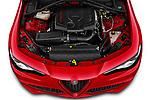 Car Stock 2021 Alfaromeo Giulia - 4 Door Sedan Engine  high angle detail view