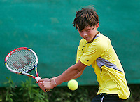 August 4, 2014, Netherlands, Dordrecht, TC Dash 35, Tennis, National Junior Championships, NJK,  Floris Podzimek (NED)<br /> Photo: Tennisimages/Henk Koster