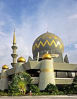 Sabah, Borneo, Malaysia.  State Mosque at Kota Kinabalu..