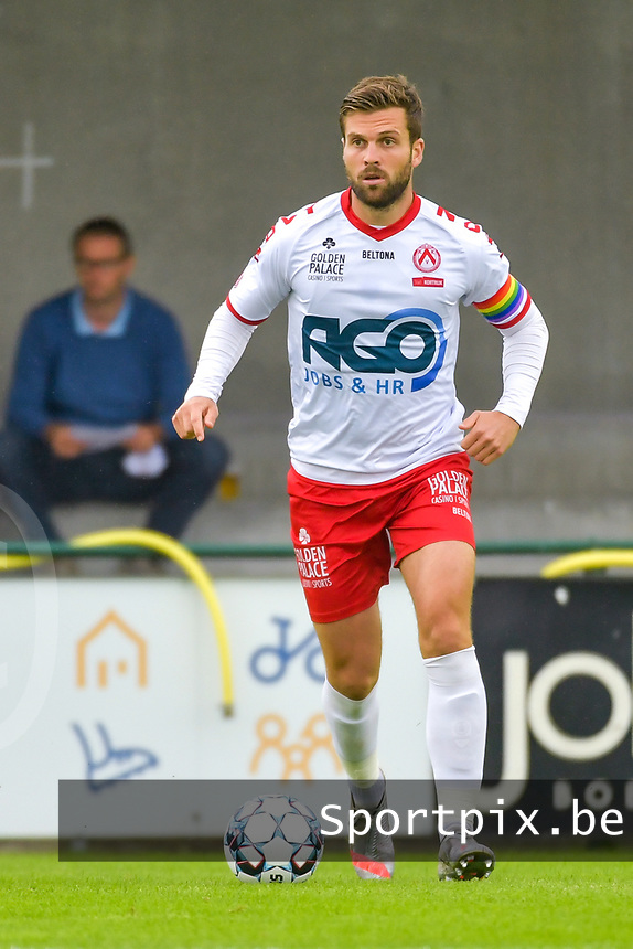 Lucas Rougeaux (6) of KV Kortrijk pictured during a friendly soccer game between Sparta Petegem and KV Kortrijk during the preparations for the 2021-2022 season , on Wednesday 30th of June 2021 in Petegem , Belgium . PHOTO STIJN AUDOOREN | SPORTPIX.BE