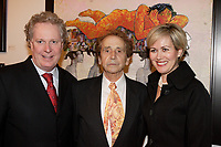 Oct 2006 file -<br /> Jean Charest, Quebec Premier (L)<br />  J C de Vilallonga (M), <br /> Michele Dionne (R), Charest wife.<br /> <br /> Internationally  know artist J C de Vilallonga donated recent painting for a benefit sales for tyhose with menyal disabilities, held at Parisian laundry in <br /> Montreal, canada.<br /> Charest was elected for the first time  April 14 2003, he is seeking a 3rd term in the  Quebec provincial election which will be held Dec 14, 2008.<br /> <br /> photo : (c) 2005 Images Distribution