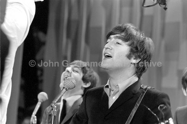 John Lennon Paul Mccartney Beatles 1964 Ed Sullivan Jpg John G Zimmerman Archive