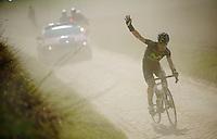 111th Paris-Roubaix 2013..Giovanni Visconti (ITA) punctured