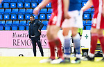 St Johnstone v Aberdeen…10.04.21   McDiarmid Park   SPFL<br />Saints boss Callum Davidson<br />Picture by Graeme Hart.<br />Copyright Perthshire Picture Agency<br />Tel: 01738 623350  Mobile: 07990 594431