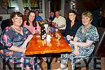 Cait McCarthy (Glenflesk), Emma McCarthy (Gneeveguilla), Maura O'Mahoney (Scartaglin) and Mary McCarthy (Gneeveguilla) enjoying the Johnny McEvoy concert in O'Riadas on Friday night.