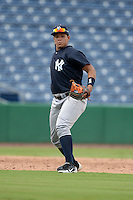 New York Yankees third baseman Nelson Gomez (69) during an Instructional League game against the Philadelphia Phillies on September 23, 2014 at the Bright House Field in Clearwater, Florida.  (Mike Janes/Four Seam Images)