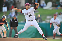 1 June 2008:  Stanford Cardinal Danny Sandbrink (28) during Stanford's 13-1 win over the Pepperdine Waves in game 6 of the NCAA Stanford Regional at Klein Field at Sunken Diamond in Stanford, CA.