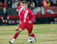 COLLEGE PARK, MD - NOVEMBER 15: Joshua Penn #11 of Indiana moves forward during a game between Indiana University and University of Maryland at Ludwig Field on November 15, 2019 in College Park, Maryland.
