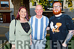Gerard Sullivan from Tralee celebrating his birthday in Cassidys on Saturday. L to r: Vivian Lonergan, Gerard Sullivan and Simon Lonergan