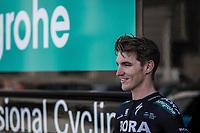 Jay Mccarthy (AUS/Bora Hansgrohe) pre race<br /> <br /> 104th Liège - Bastogne - Liège 2018 (1.UWT)<br /> 1 Day Race: Liège - Ans (258km)