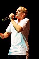 Rapper Eminem in concert, April 2000.<br /> <br /> PHOTO  :  Agence Quebec Presse