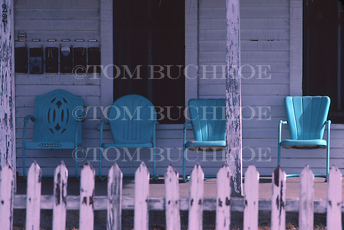 Chairs on a porch.