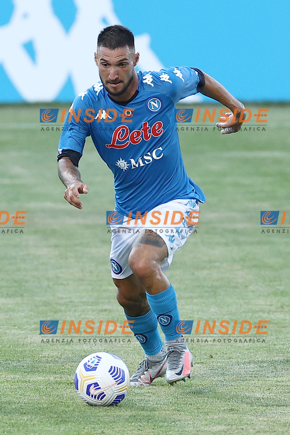 Matteo Politano of SSC Napoli<br /> during the friendly football match between SSC Napoli and Castel di Sangro Cep 1953 at stadio Patini in Castel di Sangro, Italy, August 28, 2020. <br /> Photo Cesare Purini / Insidefoto
