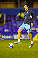 17th February 2021; St Andrews Stadium, Coventry, West Midlands, England; English Football League Championship Football, Coventry City v Norwich City; Matthew James of Coventry City warms-up prior to the match