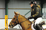 Stapleford Abbotts. United Kingdom. 21 October 2018. Class 8. Unaffiliated Christmas showjumping. Brook Farm training centre. Stapleford Abbotts. Essex. UK. 21/10/2018.  MANDATORY Credit Ellen Szalai/Sport in Pictures - NO UNAUTHORISED USE - 07837 394578