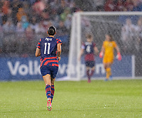 EAST HARTFORD, CT - JULY 1: Christen Press #11 of the USWNT runs downfield during a game between Mexico and USWNT at Rentschler Field on July 1, 2021 in East Hartford, Connecticut.