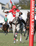 WELLINGTON, FL - FEBRUARY 19: Gillian Johnston of Coca Cola takes a shot on goal as Coca Cola 9 defeats Tonkawa 8 in overtime with a Golden Goal on a Penalty 2 by Julio Arellano, in the William Ylvisaker Cup Final, at the International Polo Club, Palm Beach on February 19, 2017 in Wellington, Florida. (Photo by Liz Lamont/Eclipse Sportswire/Getty Images)