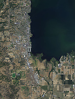 aerial photo map of Lakeport, Lake County, California, 2018
