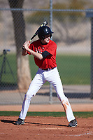 Matthew (Tyler) Ingram (47), from Henryville, Indiana, while playing for the Cardinals during the Under Armour Baseball Factory Recruiting Classic at Red Mountain Baseball Complex on December 29, 2017 in Mesa, Arizona. (Zachary Lucy/Four Seam Images)