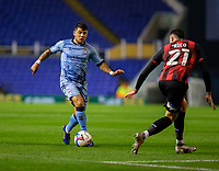 2nd October 2020; St Andrews Stadium, Coventry, West Midlands, England; English Football League Championship Football, Coventry City v AFC Bournemouth; Gustavo Hamer of Coventry City comes forward as Diego Rico of AFC Bournemouth covers him