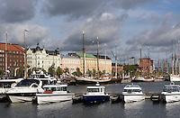 Boote im Nordhafen, Helsinki, Finnland