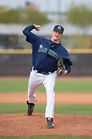 Seattle Mariners relief pitcher Scott Boches (60) during a Minor League Spring Training game against the San Diego Padres at Peoria Sports Complex on March 24, 2018 in Peoria, Arizona. (Zachary Lucy/Four Seam Images)