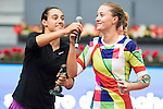 French Caroline Garcia and French Kristina Mladenovic during Doubles Woman Final Mutua Madrid Open Tennis 2016 in Madrid, May 07, 2016. (ALTERPHOTOS/BorjaB.Hojas)