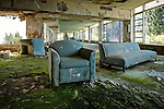 The Lobby at the Abandoned Pines Hotel in Fallsburg New York