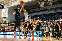 WASHINGTON, DC - JANUARY 29:  during a game between Davidson and George Wshington at Charles E Smith Center on January 29, 2020 in Washington, DC.