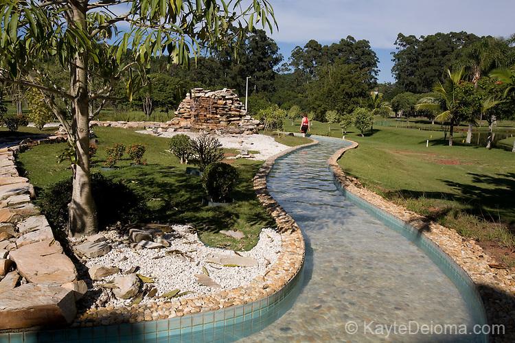 The reflexoloxy walk at Itapema Plaza Resort and Spa, Santa Catarina, Brazil