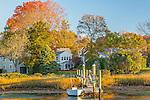 An autumn sunrise in Wickford, Rhode Island, USA