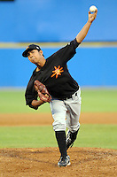 June 20, 2008: LHP Wilfredo Perez (51) of the Frederick Keys, Carolina League affiliate of the Baltimore orioles, in a game against the Potomac Nationals at G. Richard Pfitzner Stadium in Woodbridge, Va. Photo by:  Tom Priddy/Four Seam Images