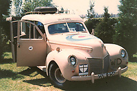 BNPS.co.uk (01202) 558833<br /> Pic: H&HAuctioneers/BNPS<br /> <br /> A Second World War staff car that was driven across Europe and North Africa by George Formby while he entertained the troops has sold for over £30,000.<br /> <br /> The 1939 Mercury Eight Series 99A Estate was used by the famous entertainer during his time in the Entertainments National Service Association.<br /> <br /> The body was established just after the outbreak of the war to provide entertainment for the British armed forces.<br /> <br /> Formby drove it during a 53 day tour of the Mediterranean in the summer of 1943 after befriending its creator, racing driver Sir Michael Campbell.