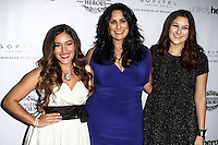 LOS ANGELES, CA, USA - NOVEMBER 08: Q'orianka Kilcher, Bonnie Abaunza arrive at the Unlikely Heroes' 3rd Annual Awards Dinner And Gala held at the Sofitel Hotel on November 8, 2014 in Los Angeles, California, United States. (Photo by Celebrity Monitor)