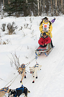 Charlie Boulding w/Iditarider on Trail 2005 Iditarod Ceremonial Start near Campbell Airstrip Alaska SC