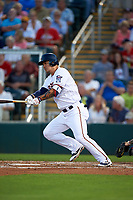 Minnesota Twins designated hitter Byung Ho Park (52) at bat during a Spring Training game against the Boston Red Sox on March 16, 2016 at Hammond Stadium in Fort Myers, Florida.  Minnesota defeated Boston 9-4.  (Mike Janes/Four Seam Images)