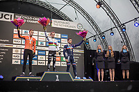 podium U23:<br /> <br /> 1. Eli Iserbyt (BEL)<br /> 2. Joris Nieuwenhuis (NED)<br /> 3. Yan Gras (FRA) <br /> <br /> Men U23 Race<br /> UCI CX Worlds 2018<br /> Valkenburg - The Netherlands