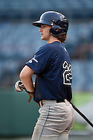 Brendan Rodgers (22) of Lake Mary High School in Longwood, Florida playing for the Tampa Bay Rays scout team during the East Coast Pro Showcase on August 1, 2014 at NBT Bank Stadium in Syracuse, New York.  (Mike Janes/Four Seam Images)